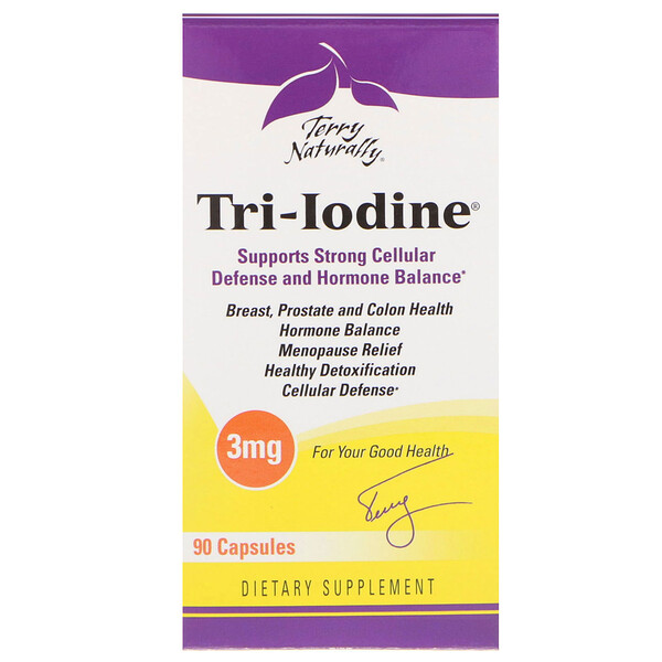 Terry Naturally, Tri-Iodine, 3 мг, 90 капсул
