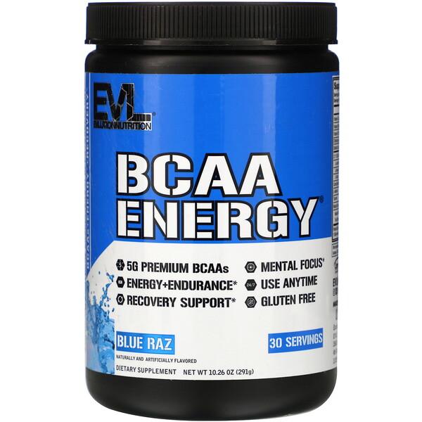 BCAA Energy, Blue Raz, 10.26 oz (291 g)