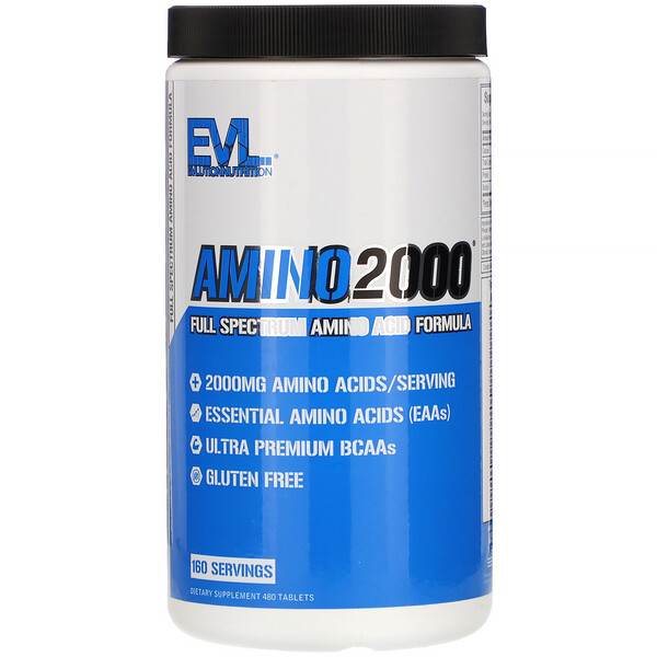 Amino2000, Full Spectrum Amino Acid Formula, 480 Tablets
