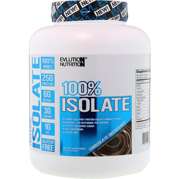 100%-ный изолят, шоколадный декаданс, 4 фунта (1814 г)