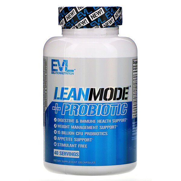 EVLution Nutrition, LeanMode + пробиотик, 120 капсул
