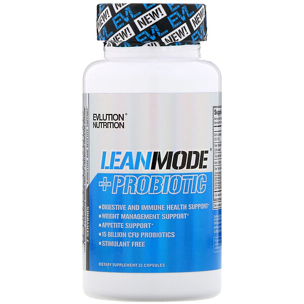EVLution Nutrition, LeanMode+пробиотик, 21капсула (Discontinued Item)