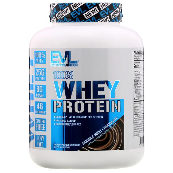 100% сывороточного протеина, двойной шоколад, 2,268кг (5фунтов)