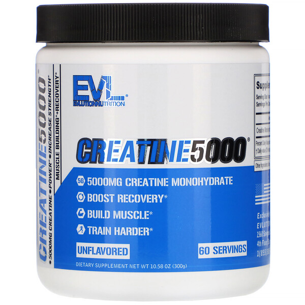 CREATINE5000, Unflavored, 10.58 oz (300 g)