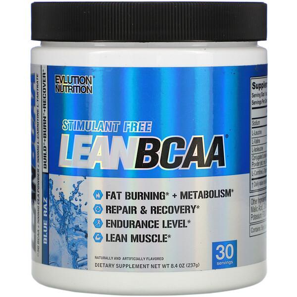 LEAN BCAA, Blue Raz, 8.4 oz (237 g)