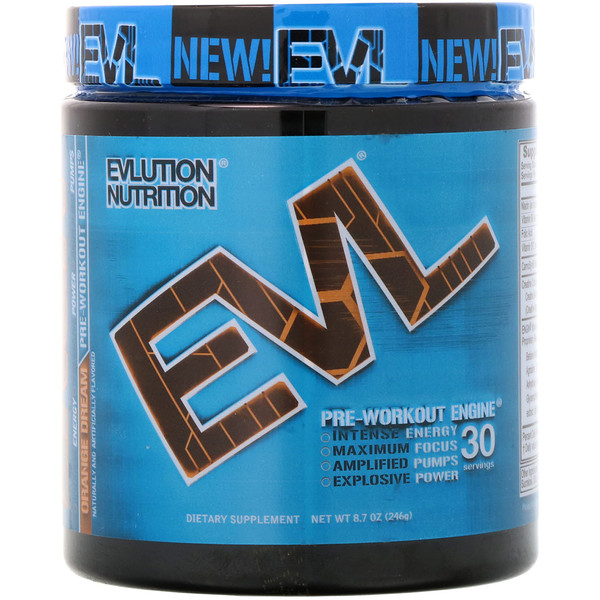 EVLution Nutrition, Предтренировочный Комплекс ENGN, Оранжевая Мечта, 8,7 унции (246 г)