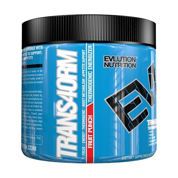 EVLution Nutrition, Trans4orm, Фруктовый пунш, 5,3 унции (150 г) (Discontinued Item)