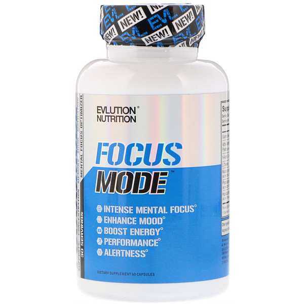 EVLution Nutrition, Focus Mode, 60 капсул (Discontinued Item)