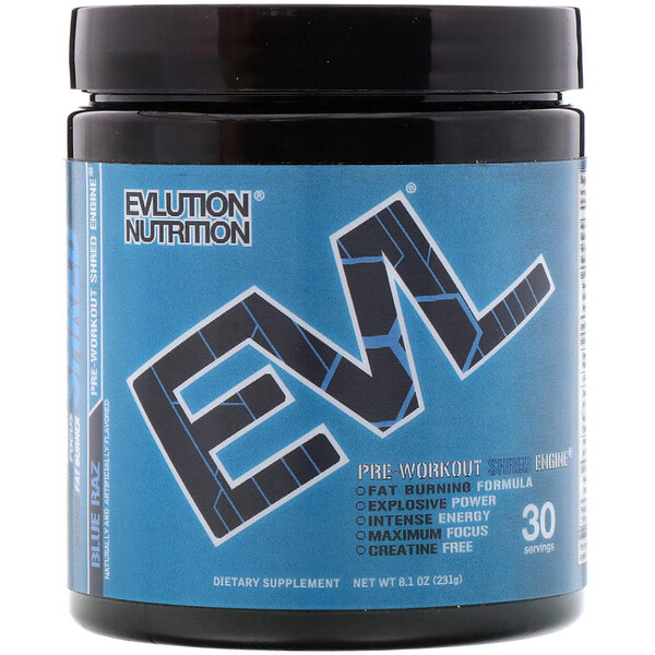ENGN Shred, Pre-Workout Shred Engine, Blue Raz, 8.1 oz (231 g)