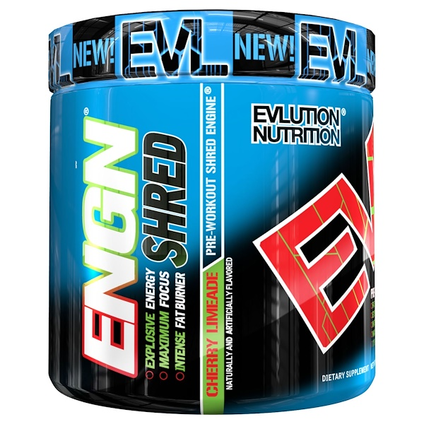 EVLution Nutrition, ENGN Shred, Pre-Workout Shred Engine, Cherry Limeade, 8.1 oz (231 g)  (Discontinued Item)