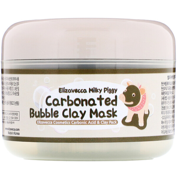 Elizavecca, Пузырьковая глиняная маска Milky Piggy, 100 г
