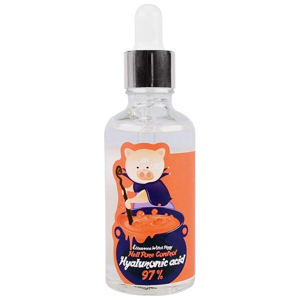 Witch Piggy, средство  для очищения пор с гиалуроновой кислотой, 97%, 50 мл