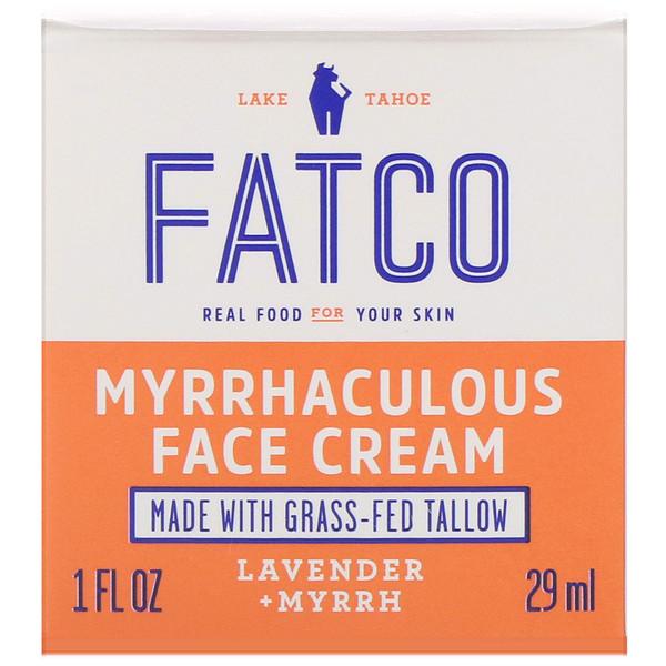Myrrhaculous Face Cream, Lavender + Myrrh, 1 fl oz (29 ml)