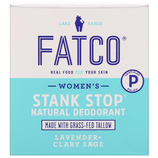 Stank Stop Natural Deodorant, Women's, Lavender + Clary Sage, 1 fl oz (29 ml)