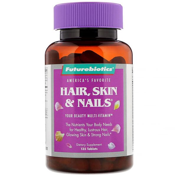 FutureBiotics, Средство для поддержания здоровья волос, кожи и ногтей, 135 таблеток