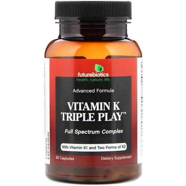 Витамин K Тройная Функция,  60 капсул