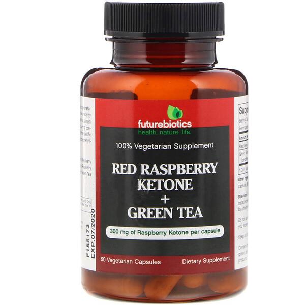 Кетоны из красной малины + зеленый чай, 60 вегетарианских капсул