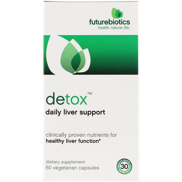 FutureBiotics, Detox, ежедневная поддержка печени, 60 вегетарианских капсул