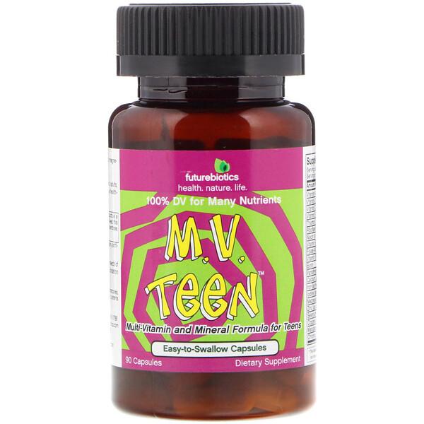 FutureBiotics, M.V. Teen Мультивитамины для Подростков 90 капсул