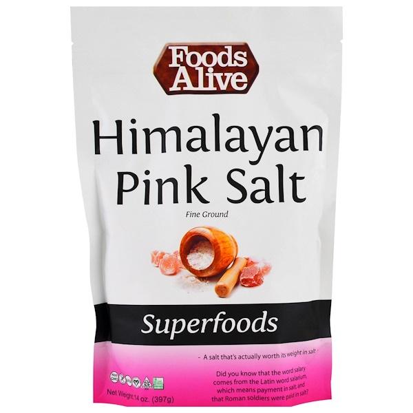 Superfoods, Himalayan Pink Salt, fine ground, 14 oz (397 g)