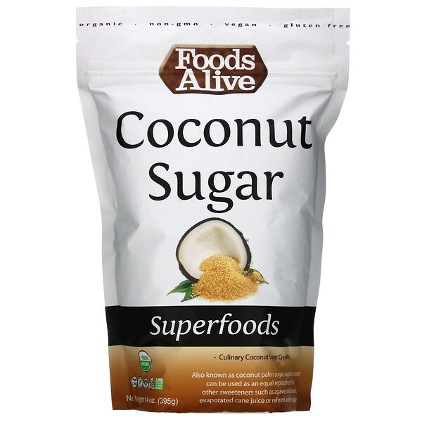 Superfoods, Coconut Sugar, 14 oz (395 g)