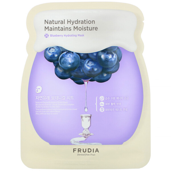 Natural Hydration Maintains Moisture, Blueberry Hydrating Mask, 5 Sheets, 0.91 oz (27 ml) Each