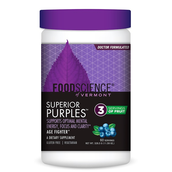 FoodScience, Superior Purples, Черника, 328,5 г (Discontinued Item)