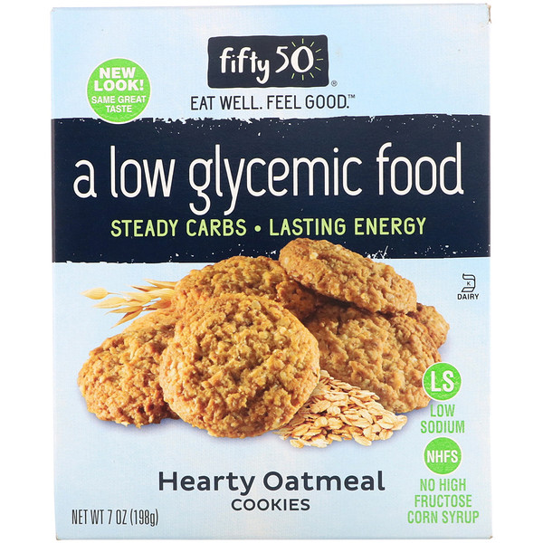 Low Glycemic Hearty Oatmeal Cookies, 7 oz (198 g)