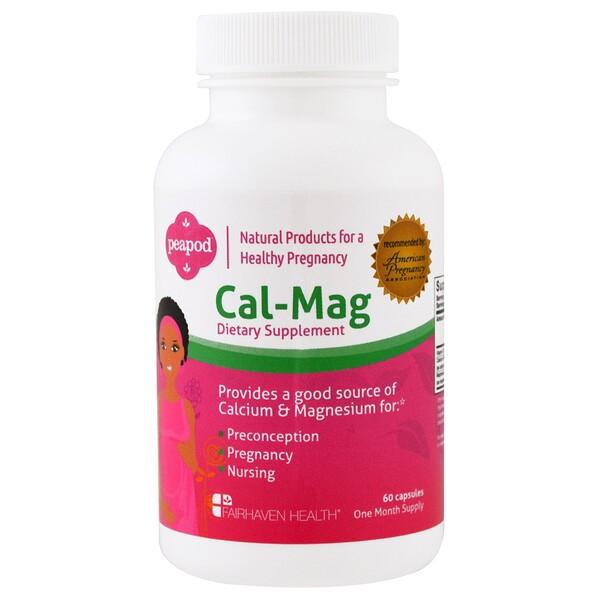 Peapod, комплекс витаминов Кальций-Магний, 60 капсул