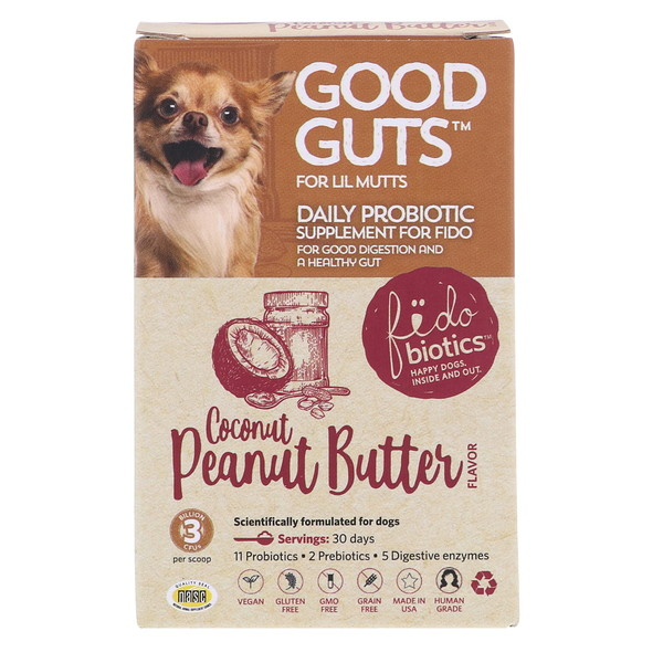 Fidobiotics, Good Guts, Coconut Peanut Butter, Daily Probiotic, For Lil Mutts, 3 Billion CFUs, 0.5 oz (15 g) (Discontinued Item)