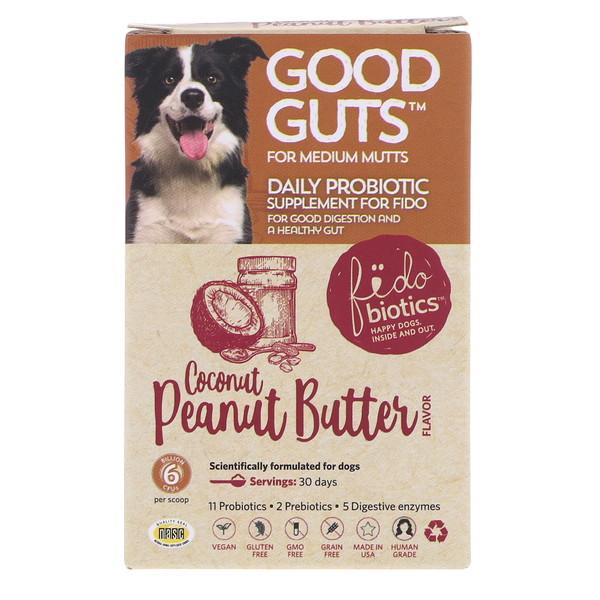 Fidobiotics, Good Guts, Daily Probiotic, For Medium Mutts, Coconut Peanut Butter, 6 Billion CFU, 1 oz (30 g) (Discontinued Item)