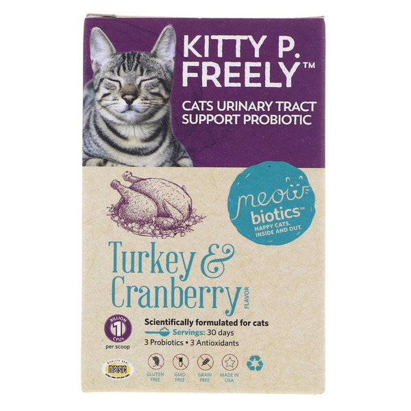 Fidobiotics, Kitty P. Freely, Turkey & Cranberry, Cats Urinary Tract, Support Probiotic, 1 Billion CFUS, 0.5 oz (14.5 g) (Discontinued Item)