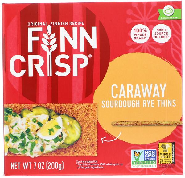 Caraway Sourdough Rye Thins, 7 oz (200 g)