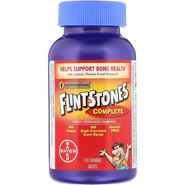 Flintstones, Комплекс для детей, мультивитаминная добавка, 150жевательных таблеток