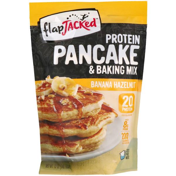 FlapJacked, протеиновая смесь для выпечки и блинчиков, со вкусом бананов и фундука, 340 г (12 унций) (Discontinued Item)