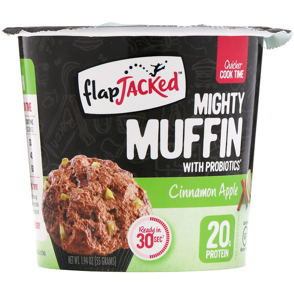 FlapJacked, Mighty Muffin with Probiotics, Cinnamon Apple, 1.94 oz (55 g) (Discontinued Item)