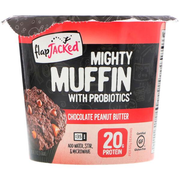 Mighty Muffin с пробиотиками, со вкусом шоколадного арахисового масла (55 г)