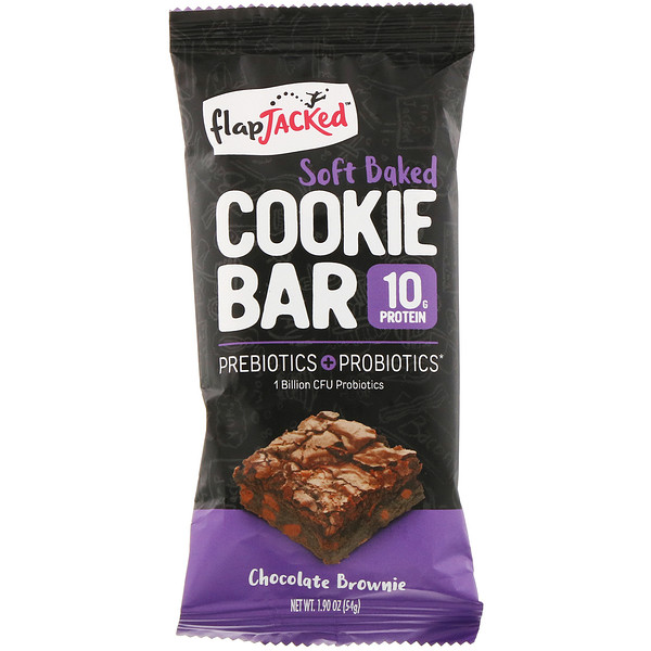 FlapJacked, Soft Baked Cookie Bar, Chocolate Brownie, 1.90 oz (54 g) (Discontinued Item)