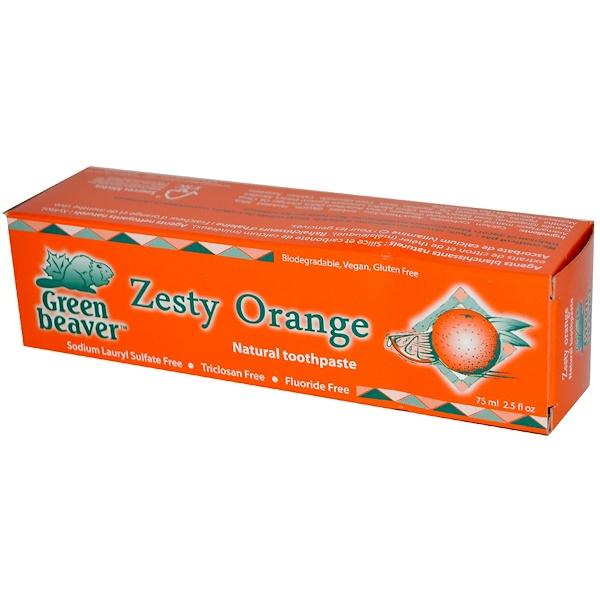 Flora, Green Beaver, Natural Toothpaste, Zesty Orange, 2.5 fl oz (75 ml) (Discontinued Item)