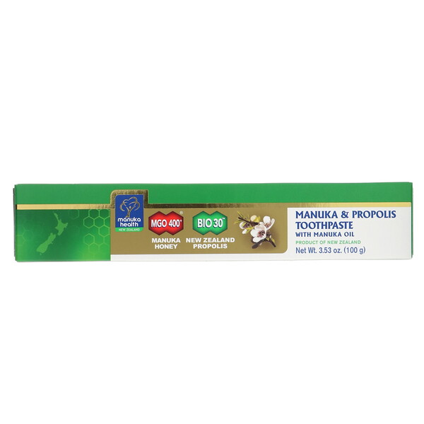 Манука и прополис, зубная паста с маслом манука, 100г (3,53унции)