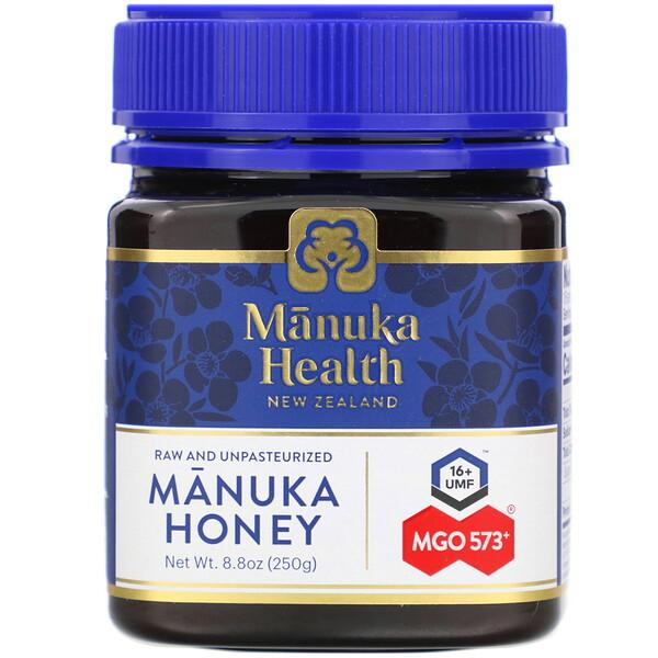 Manuka Health, Мед мануки, MGO 573+, 250г (8,8унции)