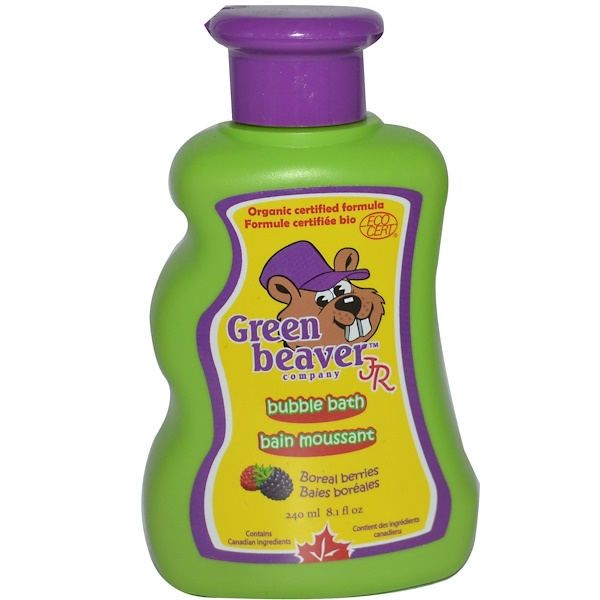 Flora, Green Beaver Jr., Bubble Bath, Boreal Berries, 8.1 fl oz (240 ml) (Discontinued Item)