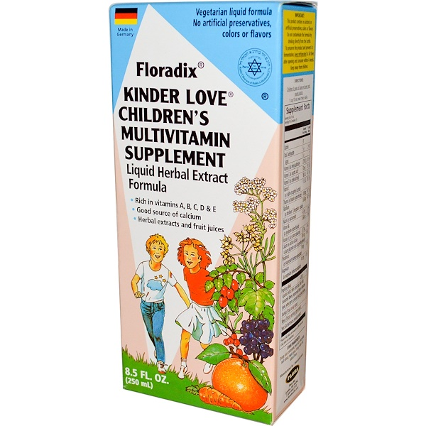 Flora, Floradix, Kinder Love, детская поливитаминная добавка, 250 мл (8,5 жидких унций) (Discontinued Item)