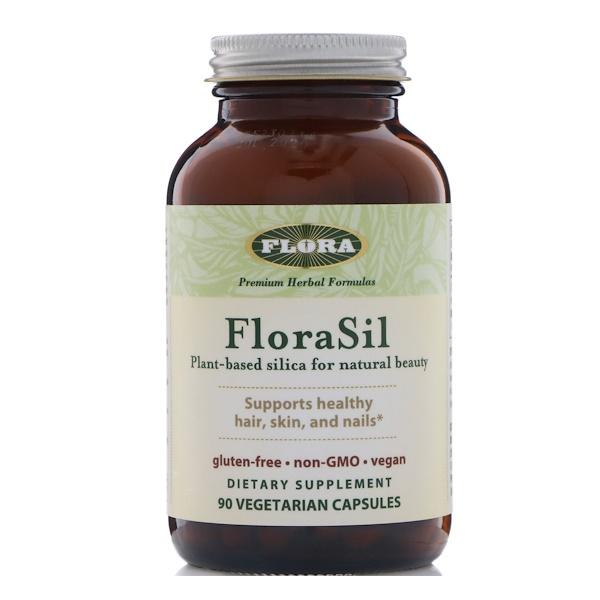 FloraSil, диоксид кремния растительного происхождения для естественной красоты, 90 вегетарианских капсул