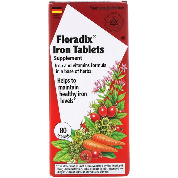 Floradix, Железосодержащая добавка, 80 таблеток