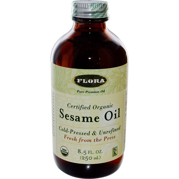 Flora, Сертифицированное органическое кунжутное масло, 250 мл (8,5 жидк. унции)