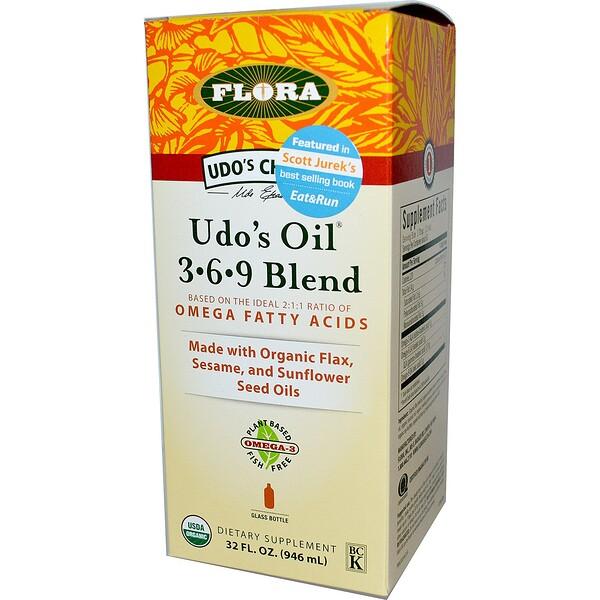 Flora, Udo's Choice, Udo's Oil 3-6-9 Blend, 32 fl oz (946 ml)