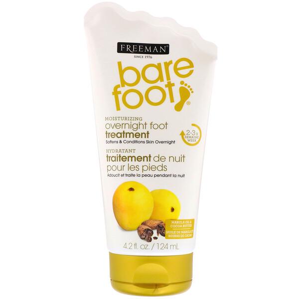 Freeman Beauty, Bare Foot, ночное увлажняющее средство ухода за ногами, масла марулы и какао, 4,2 ж. унц. (124 мл)