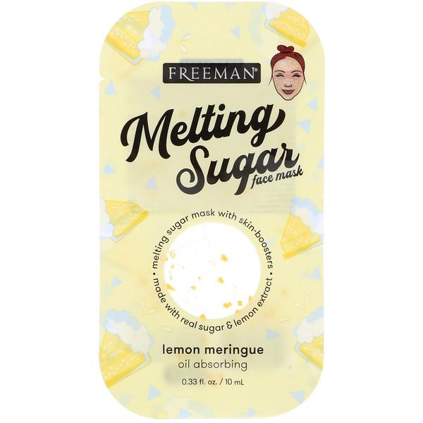 """Маска для лица """"Тающий сахар"""", абсорбирующая, лимонное безе, 0,33 ж. унц. (10 мл)"""
