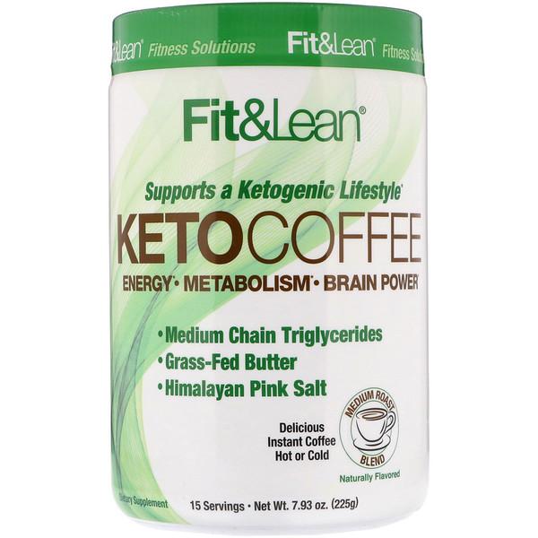 Fit & Lean, Кето-кофе, 225г (7,93унции) (Discontinued Item)